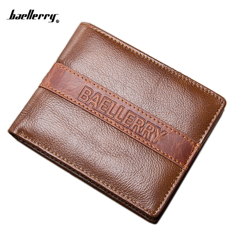 New Brand Genuine Leather Men Wallets Purse Money Bag Fashion Male Wallet Card Holder Coin pocket Purse short Wallet miwind small wallet men multifunction purse men wallets with coin pocket buckle men leather wallet male famous brand money bag