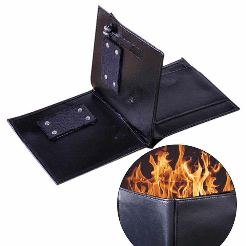1Pc Magic Trick Flame Fire Wallet Mystical Bifold Wallet For Stage Street Magic Trick Performances Pranks Jokes Magic Toys