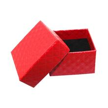 100pcs/lot Classic Black/Red Square Leather Case Jewelry Packing Display Box Girls Accessories Casket HJ104