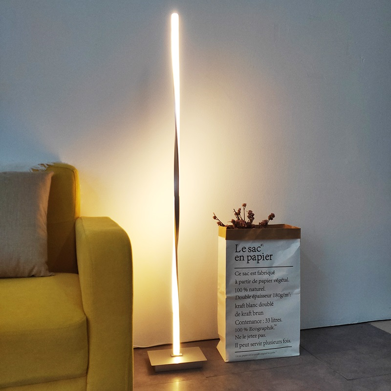 US $4.81 21% OFF|Dimmable decor Loft LED Floor Lamp LED Lamp Stand Lighting  Standing Lamp Foot Living room Stand Light Bedroom Floor Lamps-in Floor ...