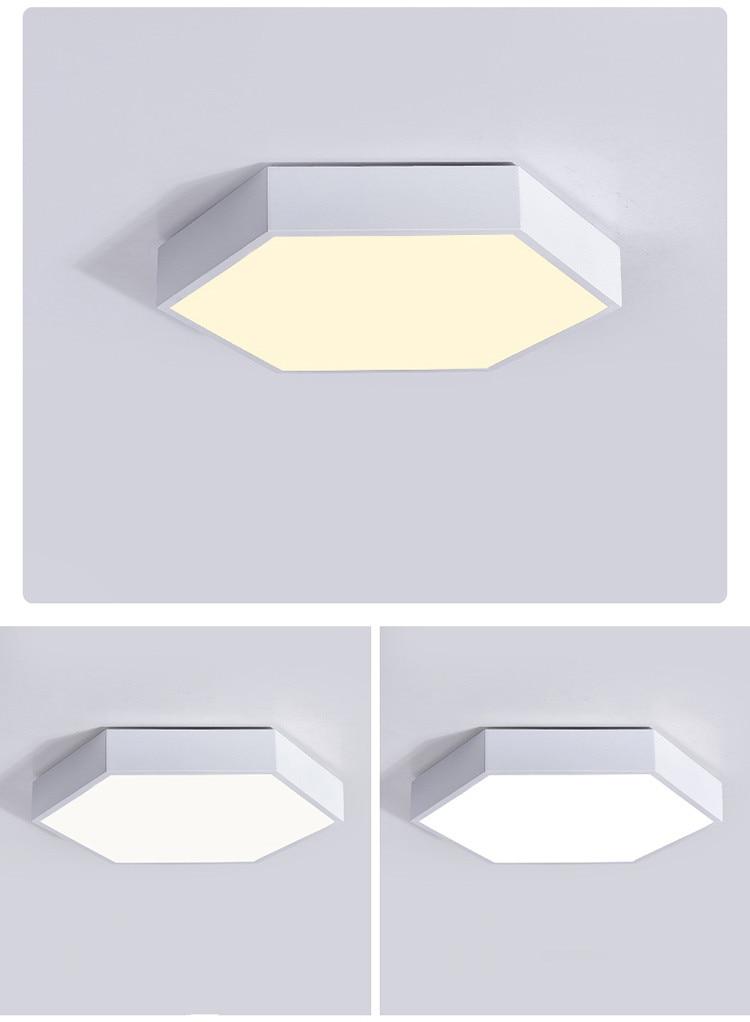 HTB1YISqe21TBuNjy0Fjq6yjyXXaN Ultrathin LED modern ceiling light hexagon Iron Acrylic indoor lamp kitchen bed room porch decoration light fixture AC110-265V