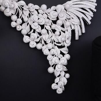 GODKI Luxury Lariat Flower African Cubic Zircon CZ Nigerian Jewelry sets For Women Wedding Dubai Gold Bridal Jewelry Set 2019 2