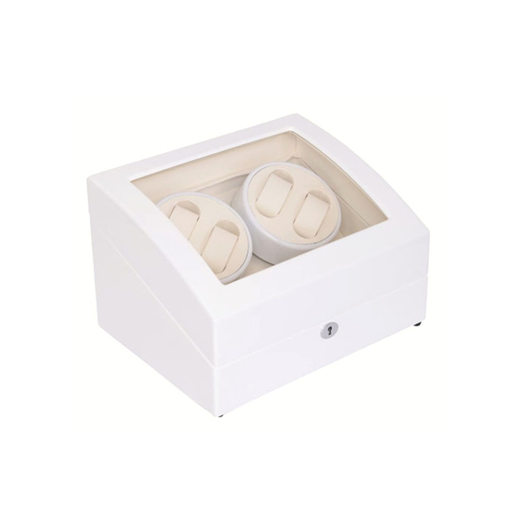 Watch Winder, LT Wooden Automatic Rotation 4 + 6 Watch Winder Storage Case Display Box (ydersiden er hvid og indersiden er hvid)