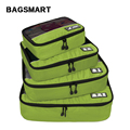 BAGSMART New Breathable Travel Bag 4 Set Packing Cubes Luggage Packing Organizers Weekend Bag Shoe Bag Fit 23 Carry on Suitcase