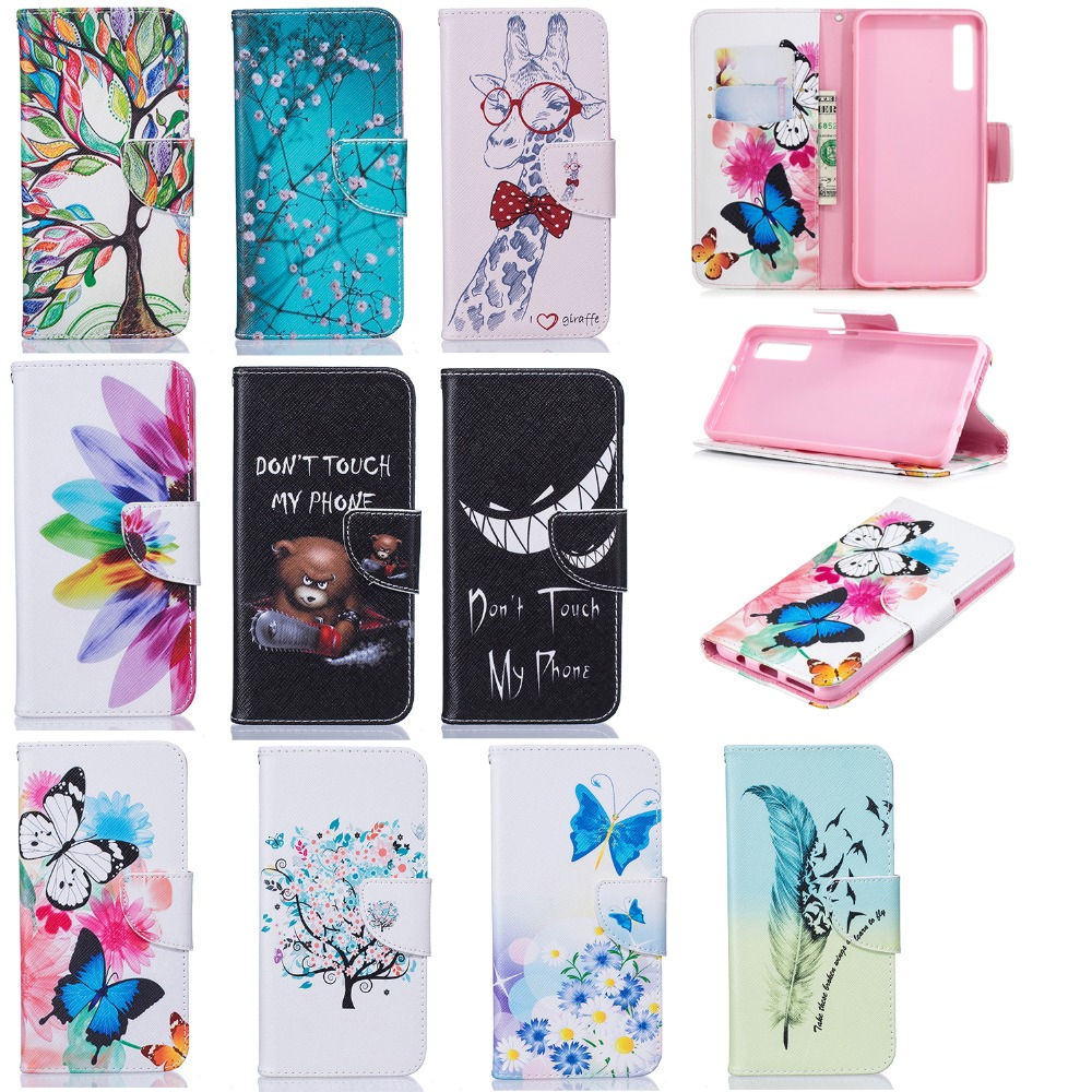 Cell Phone Case For Samsung A6 A7 A8 2018 Plus Luxury Leather Stand Cover For Galaxy A3 A5 A7 2017 Book Style Pattern Flip Walle