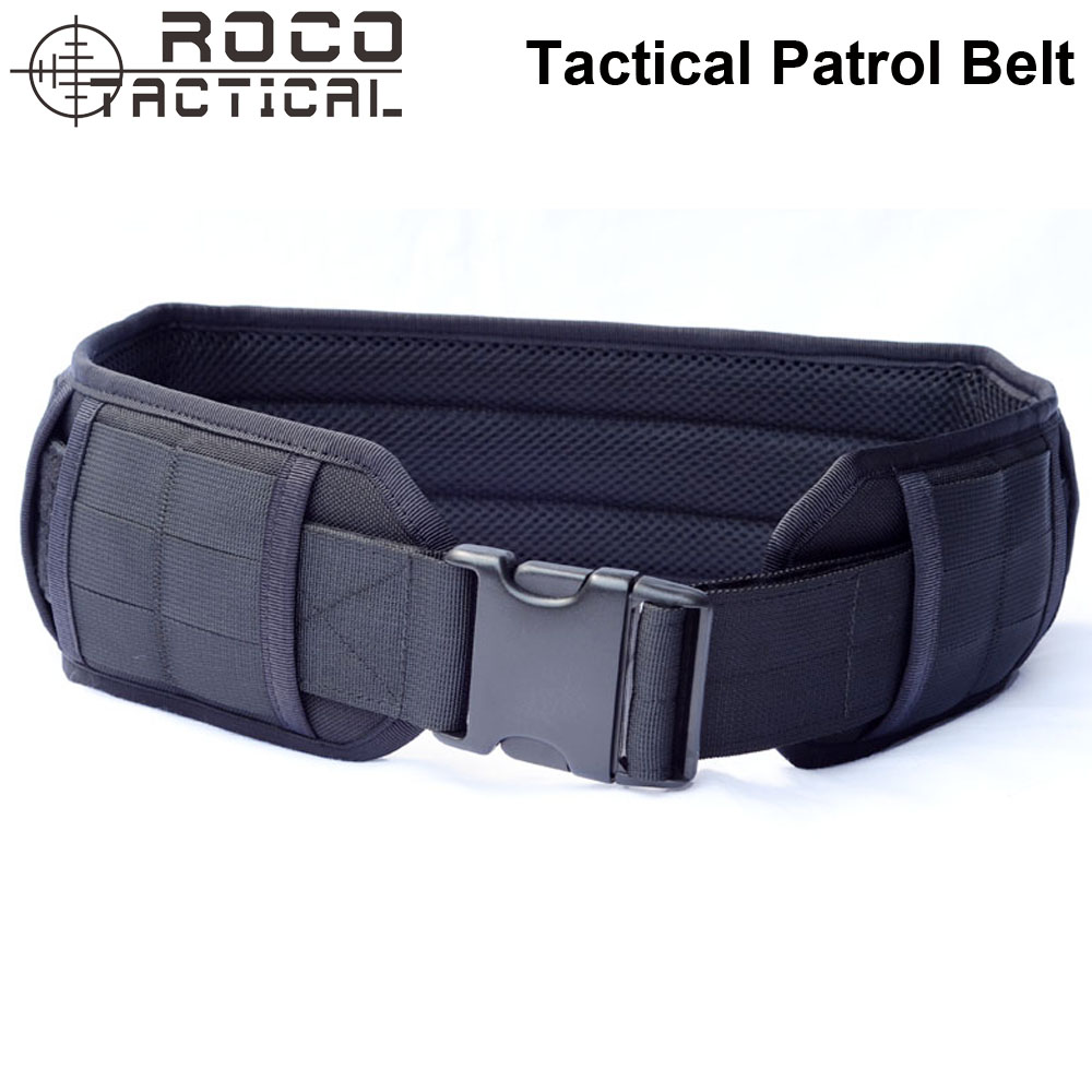 ROCOTACTICAL Tactical Molle Padded Patrol Belt Military Combat Waist Belt Airsoft Army Battle Belt Operator Gun Pistol Belt стоимость