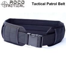 ROCO Tactical Molle Padded Patrol Belt Military Combat Waist Belt Airsoft Army Battle Belt Operator Gun Pistol Belt Nylon