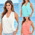 Fashion Women Summer Vest Top Sleeveless Blouse Casual Tops Blouse