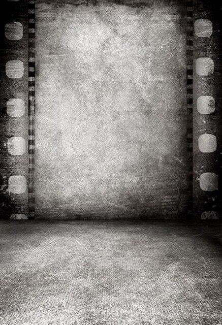 Custom vinyl cloth nostalgic black white film room photography backdrop for wedding model kids photo studio