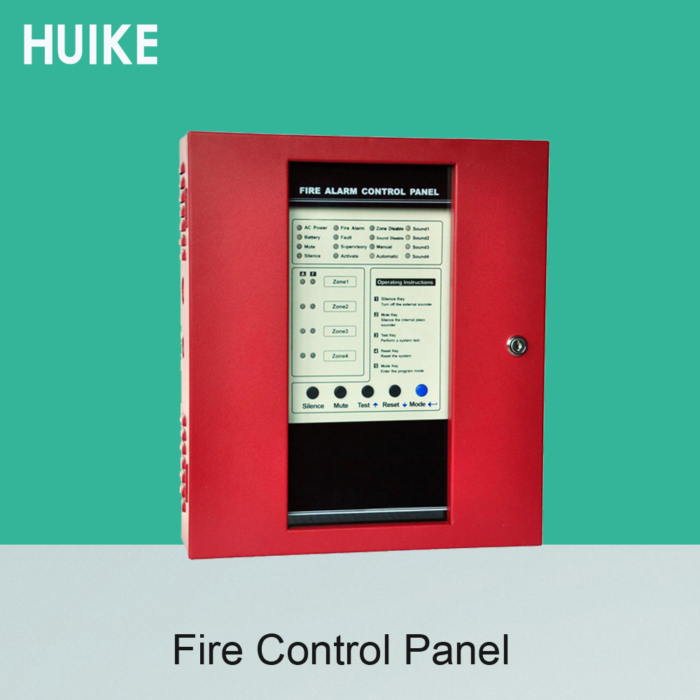 Fire Control Panel 4 Wire Zones Support Smoke Alarm System ...