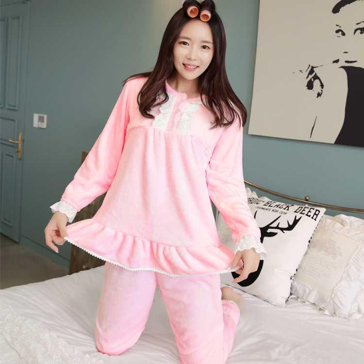 5060dcaa39 Gratis barrio coral polar pijamas para mujer longsleeved franela gruesa para  mujer con ropa de moda fijó 1444399329 en Túnicas de Ropa interior y ropa  de ...