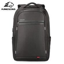 цена на Kingsons Large Capacity  USB Port Charging Men 17inch Laptop Backpacks For Teenager Fashion Male Mochila Leisure Travel Backpack