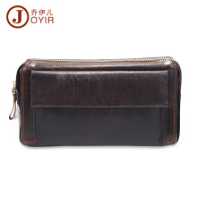 JOYIR Genuine Leather Men wallets purse men fashion zipper clutch wallet large capacity men purses wallets leather handbag 9332
