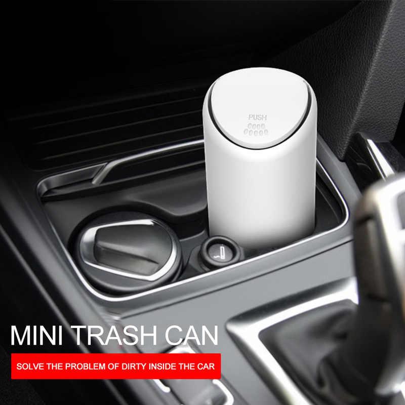 Креативный Мини Автомобильный силиконовый мусорный бак черный/белый дропшиппинг эластичный пуш-тип открывающийся водонепроницаемый флип-чехол ящик для мусора