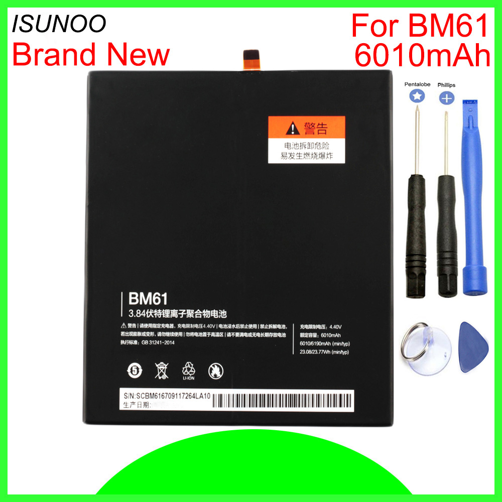 Delightful Colors And Exquisite Workmanship Isunoo 6010mah Bm61 Battery For Xiaomi Pad 2 Mipad 2 Millent Flat 2 Bm 61 Batterie Cell Mobile Phone Batteries With Repair Tools Famous For Selected Materials Novel Designs