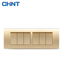 CHINT Lighting Switches 118 Type Switch Panel NEW5D Steel Frame Four Position Six Gang Two Way Switch Panel chint lighting switches 118 type switch panel new5d steel frame four position six gang two way switch panel