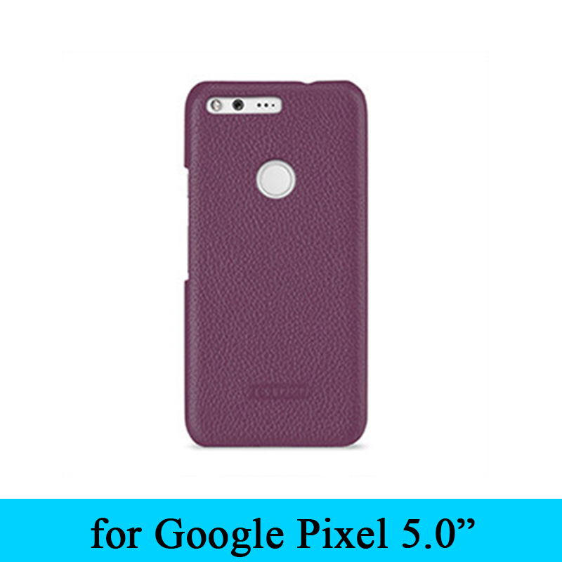 Classic Style Europe And America New Cow Genuine Leather Back Cover Protective Skin Shell For Google Pixel 5.0