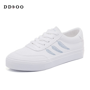 Image 5 - Shoes Woman New Fashion Casual High Platform PU Leather Women Casual White Platform Shoes Breathable Sneakers Womens Shoes