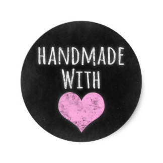 38cm Handmade With Love Chalkboard Rustic Shabby Chic Classic Round Sticker In Stickers From Home Garden On Aliexpress