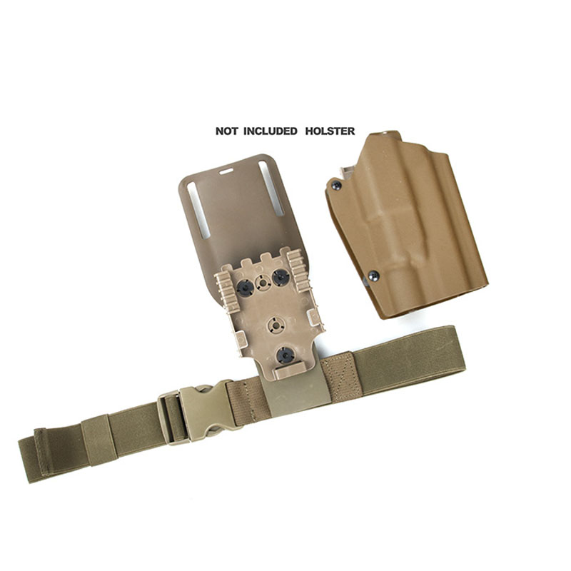Outdoor TMC Thigh Strap Version 2 Tactical Elastic Band Extend Strap For Leg Thigh Holster BK/CB