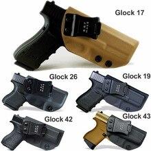 Bbf сделать доски тактические KYDEX пистолет Глок 19 17 25 26 27 28 43 22 23 31 32 33 Внутри Скрытого пояс для переноски пистолет чехол