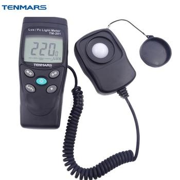 TENMARS TM-201 1/2 LCD Display Digital Luxmeter Light Illumination Meter Light Tester