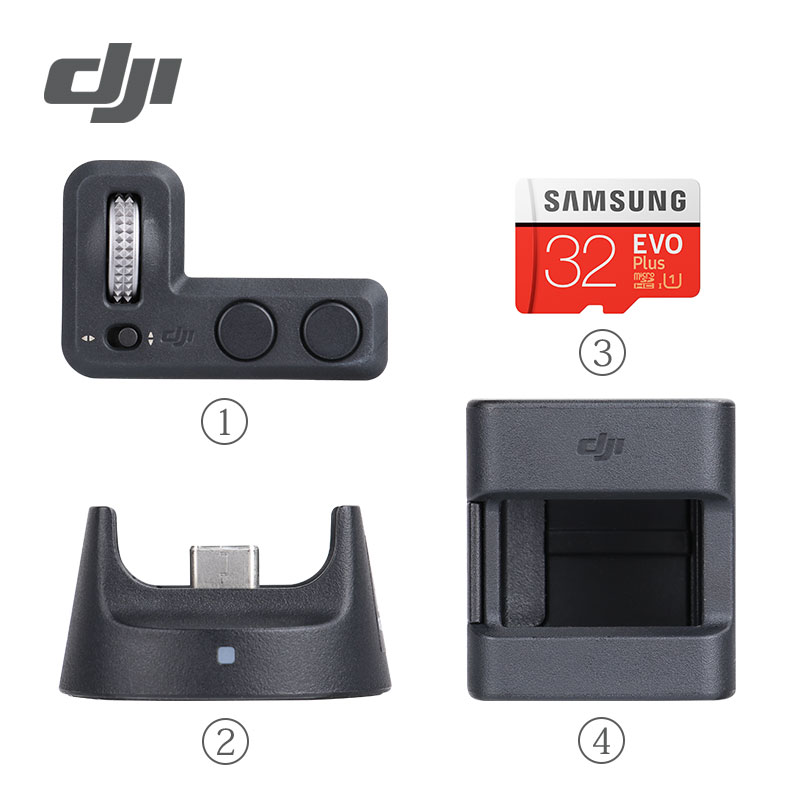 DJI Osmo Pocket Accessories Expansion Kit For Osmo Gimbal Stabilizer Controller Wheel & Wireless Module & Accessory Mount Parts