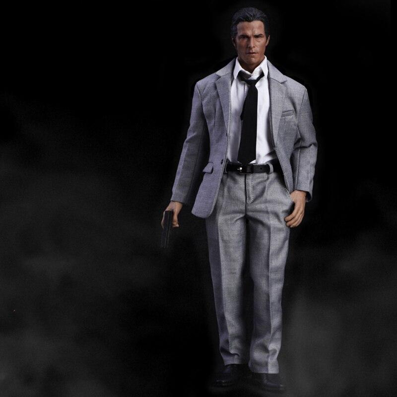 1/6 Male Grey Suit Narrow Shoulder Clothes For 12'' Action Figures  Bodies