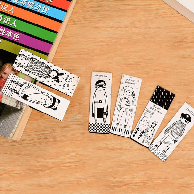 6 Pcs/lot Cute Kawaii Totoro Paper Bookmarks Lovely Doraemon Magnetic Book Marker School Supplies Student 2448