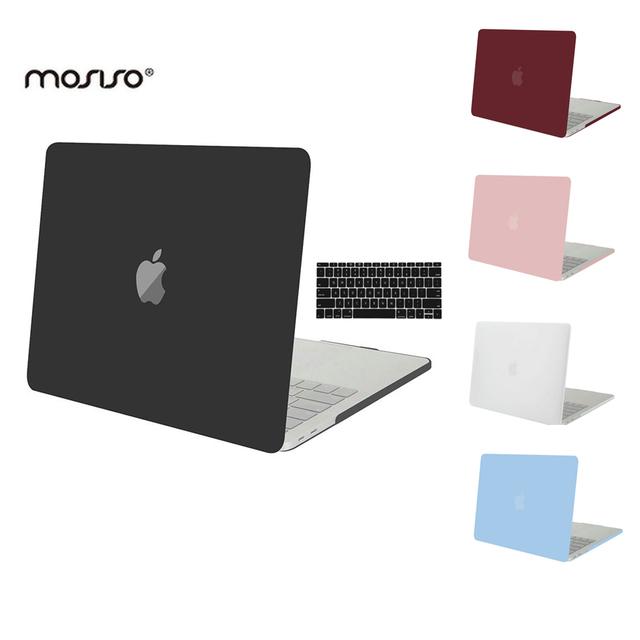 Mosiso cristal matte plástico caso capa dura para apple macbook pro 13 Barra de toque Pro 15 Shell Laptop Pro 13 A1706 A1707 A1708 Quente