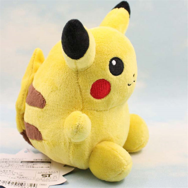 online shop 16cm cute sitting lovely fat pikachu soft stuffed plush