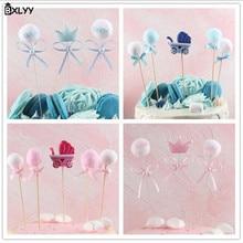 BXLYY Hot  Pink Childrens Baby Cake Decoration Set Card Party Supplies Birthday Children 2019 New Year Gift.7z