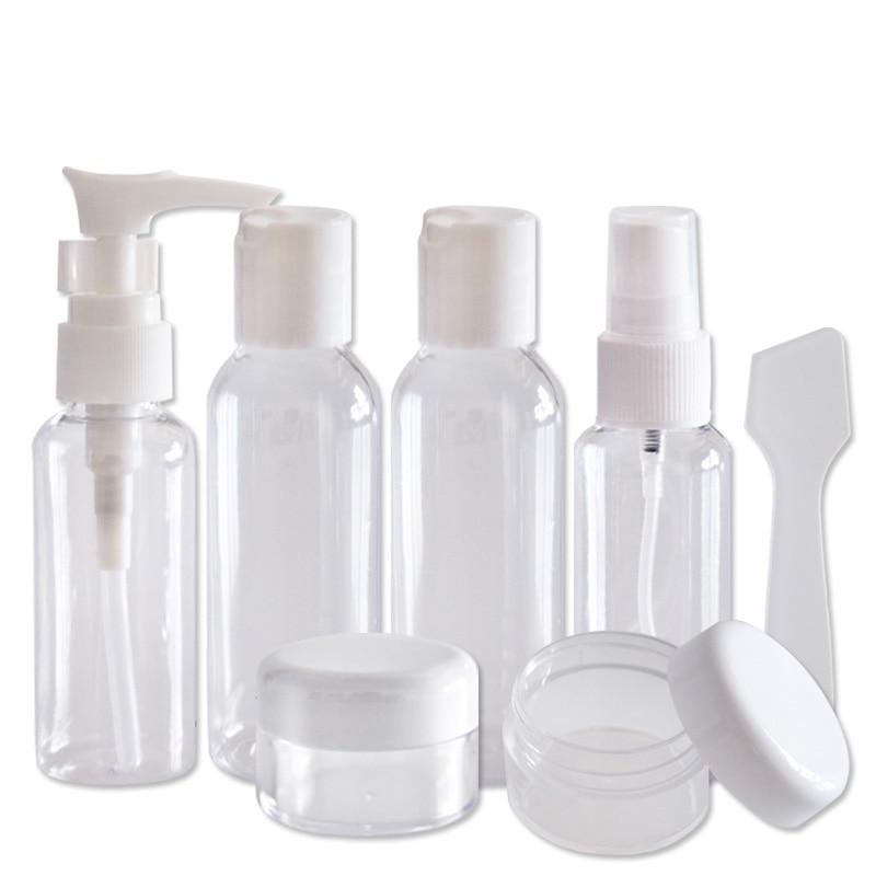 Travel cosmetic packaging bottle gift set 7-piece spray bottles of lotion bottle mask bubble bottles