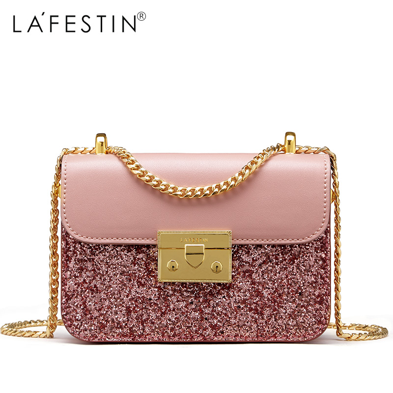 Detail Feedback Questions about LAFESTIN Fashion Women Shoulder Bag High  Quality Sequin Flap Bag Female Chain Strap Crossbody Bag bolsa feminina on  ... e299a1afb61d