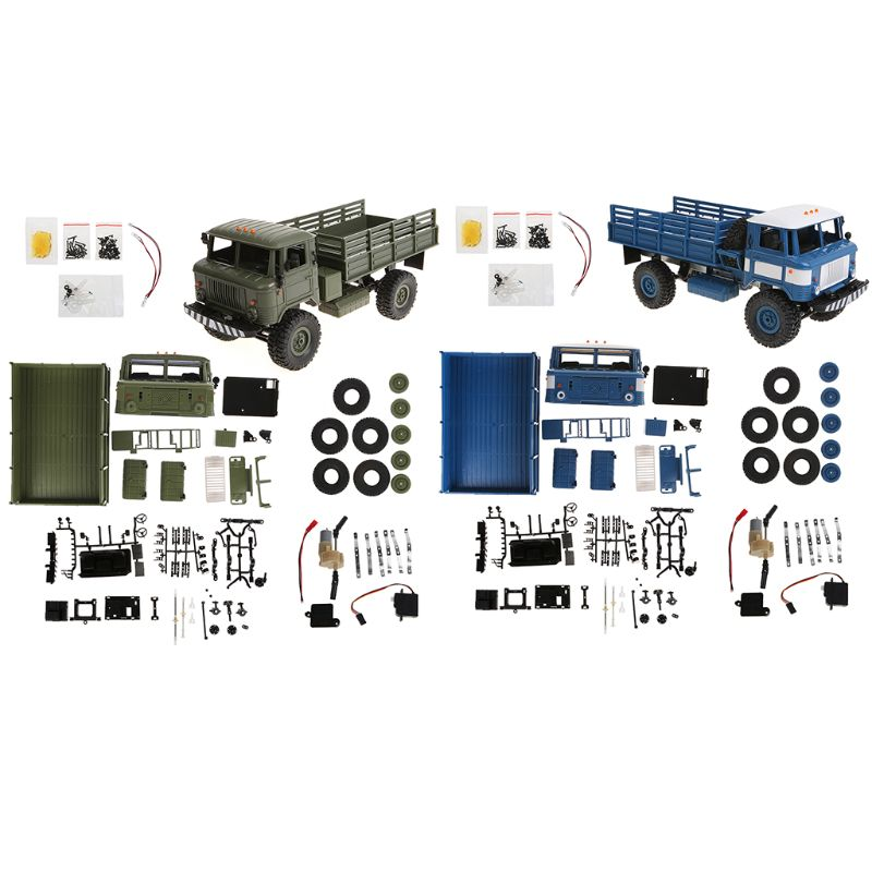 WPL B - 24 1:16 2.4G Mini Off-road RC Car Military Truck DIY Assembly Models