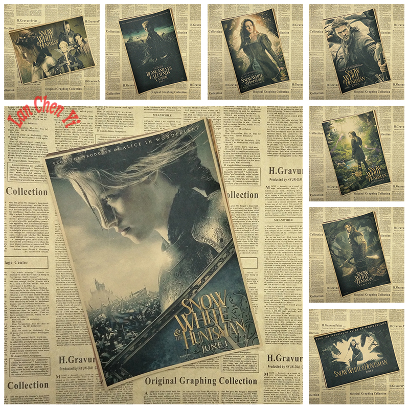Fantasy adventure movie Snow White and the Huntsman Kraft Paper Poster Office Gift Room Dining Home Decor wall sticker Design