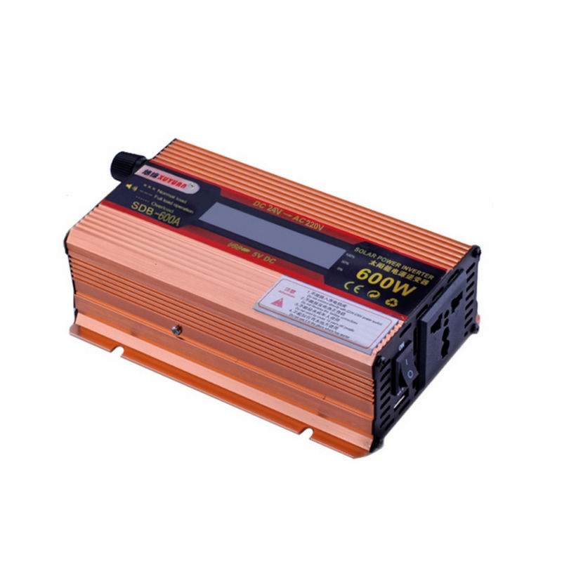 LCD Display Solar 600W DC 24V To AC 220 Car Powet Inverter Converter Adapter Electronic USB Port 50HZ Continuous Power 350W