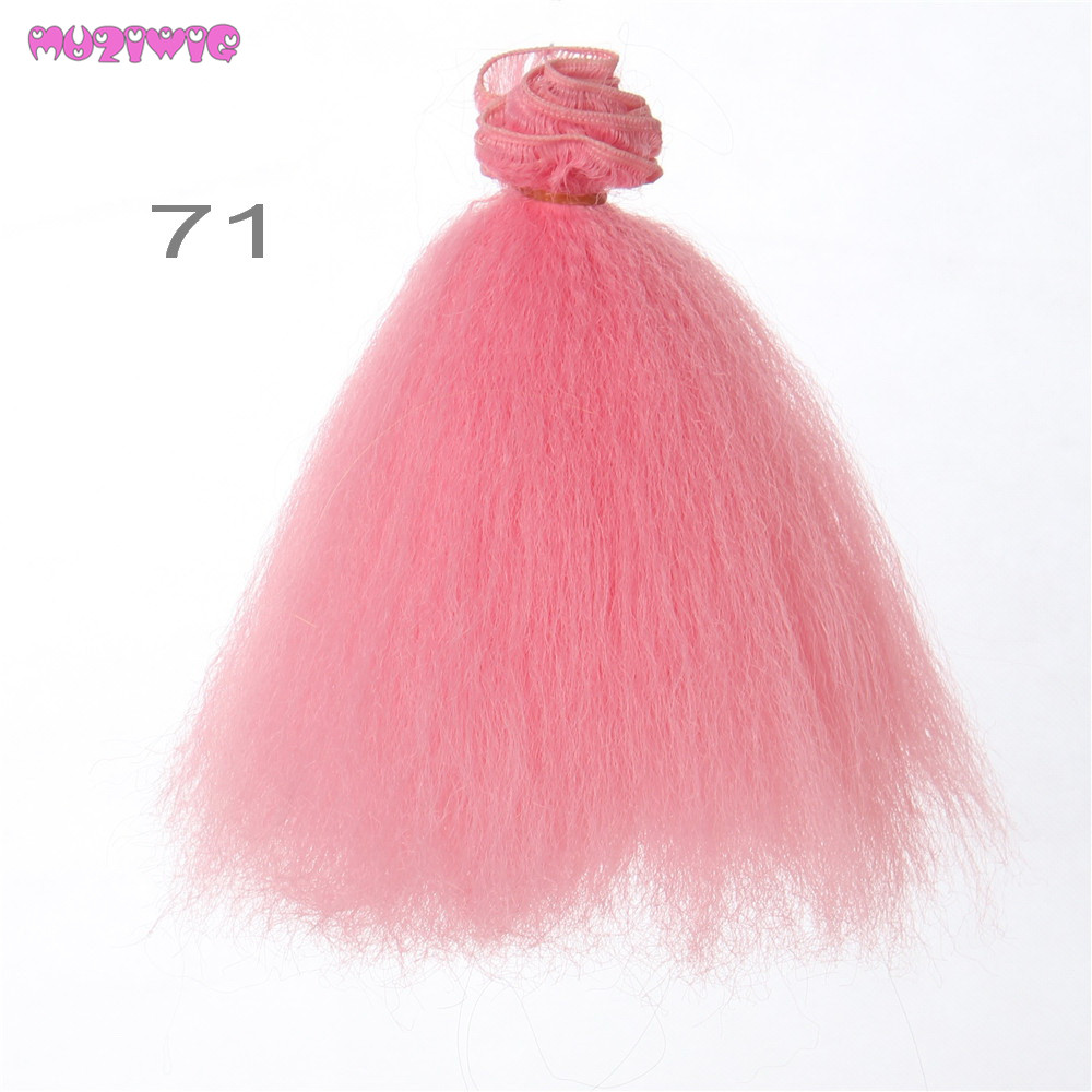 1pc 15 20 100cm Heat Resistant Synthetic Afro Kinky Curly Hair Wefts for BJD Blyth American Doll in Dolls Accessories from Toys Hobbies