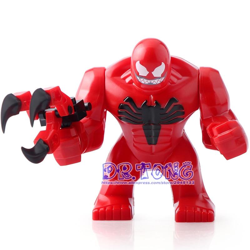 Dr.tong Decool 0280 Super Heroes 7cm Big Size Bane Thanos Carnage Hulk Moana Toxin Bricks Building Blocks Action Children Toys Blocks
