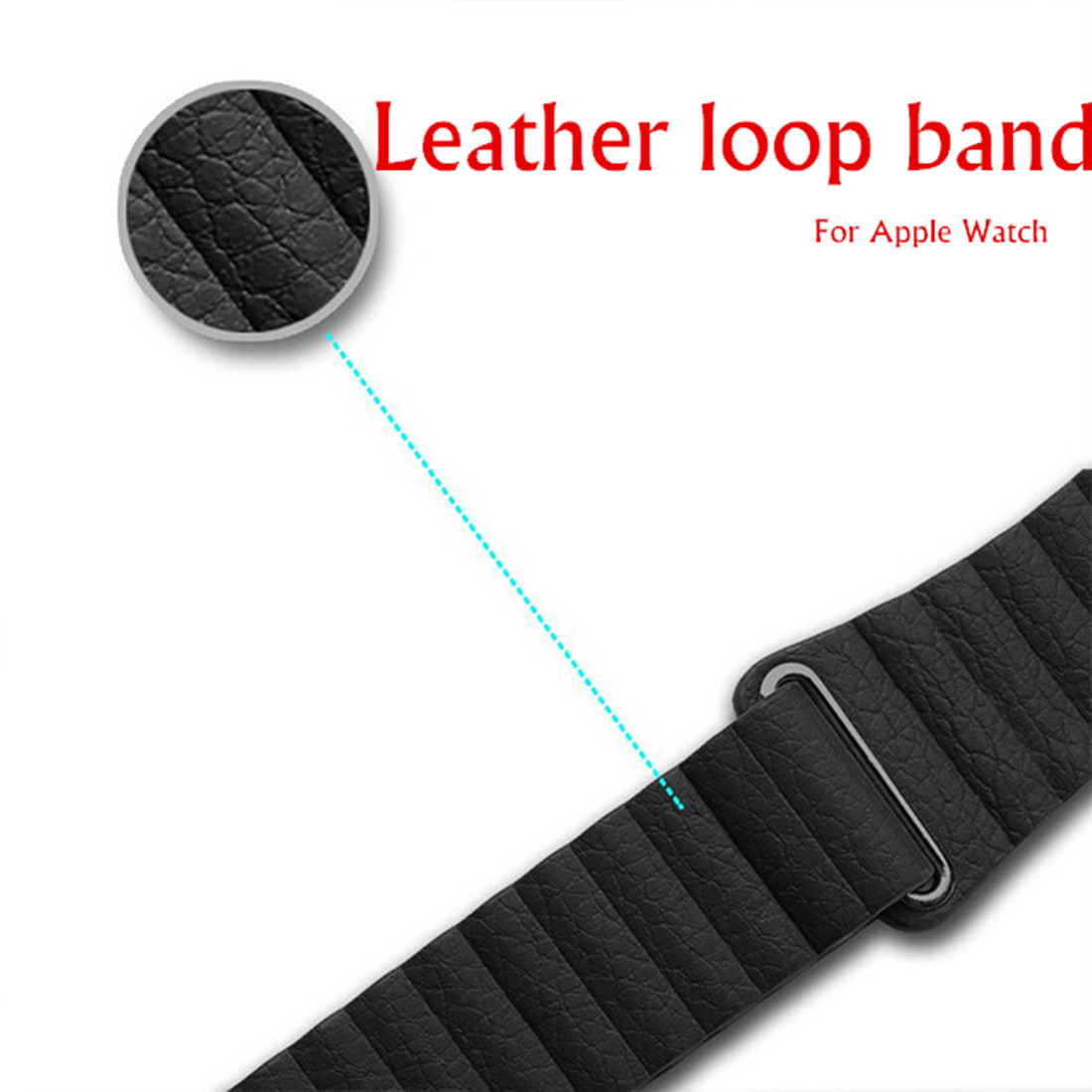 CRESTED Leather Loop band For Apple Watch 3 42mm/38mm iwatch 3 2 1 strap wrist bracelet Magnetic Closure leather Loop belt crested nylon band strap for apple watch band 3 42mm 38mm survival rope wrist bracelet watch strap for apple iwatch 3 2 1 black