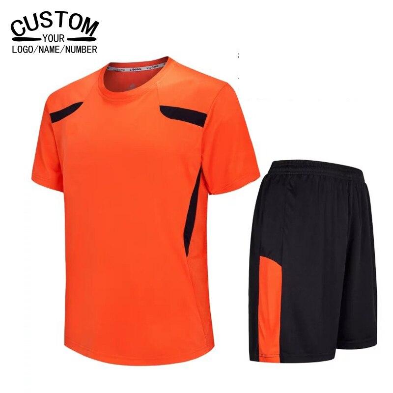 Prix pour Hommes enfants de Football Jersey 2016 2017 garçons formation football chemises Vêtements D'été de football survêtement de Sport Ensemble Mâle Respirant