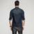 2017 primavera mens casual camisas 100% de algodón de mezclilla azul brand clothing Vaqueros Slim Fit de Manga larga Para Hombre Ropa Tallas grandes Escudo