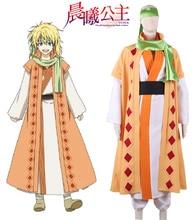 Envío Libre Akatsuki no Yona: Yona del Amanecer Amarillo Dragon warrior Jenö Han fu Anime Cosplay Costume