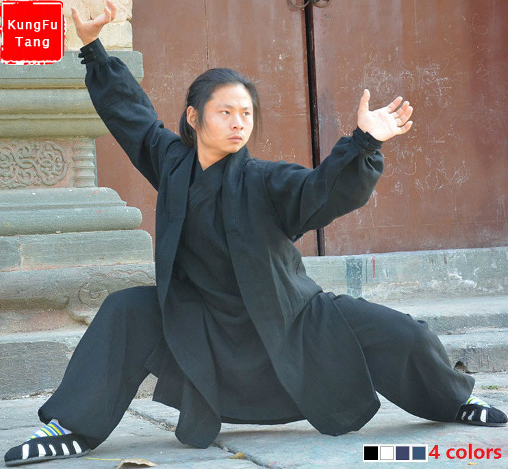 Top grade Wudang Taoist tai chi clothing shaolin buddhism kung fu exercises training monk suit Martial arts clothes robes costum custom high grade white black tai chi uniform wudang taoist robe shaolin monk suit martial arts clothes wing chun wushu clothing