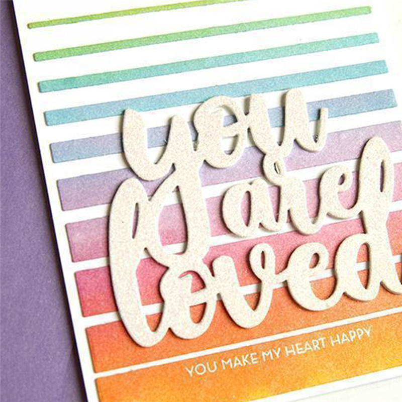 Eastshape Words You Are Loved Metal Cutting Dies Scrapbooking Letter For Card Making Album Photo Embossing Crafts New 2019
