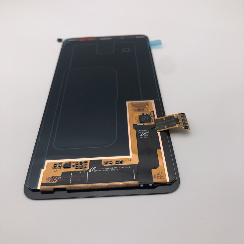 100 SUPER AMOLED 5 6 Display LCD Touch Digitizer Assembly Brightness Adjusted For SAMSUNG Galaxy A8