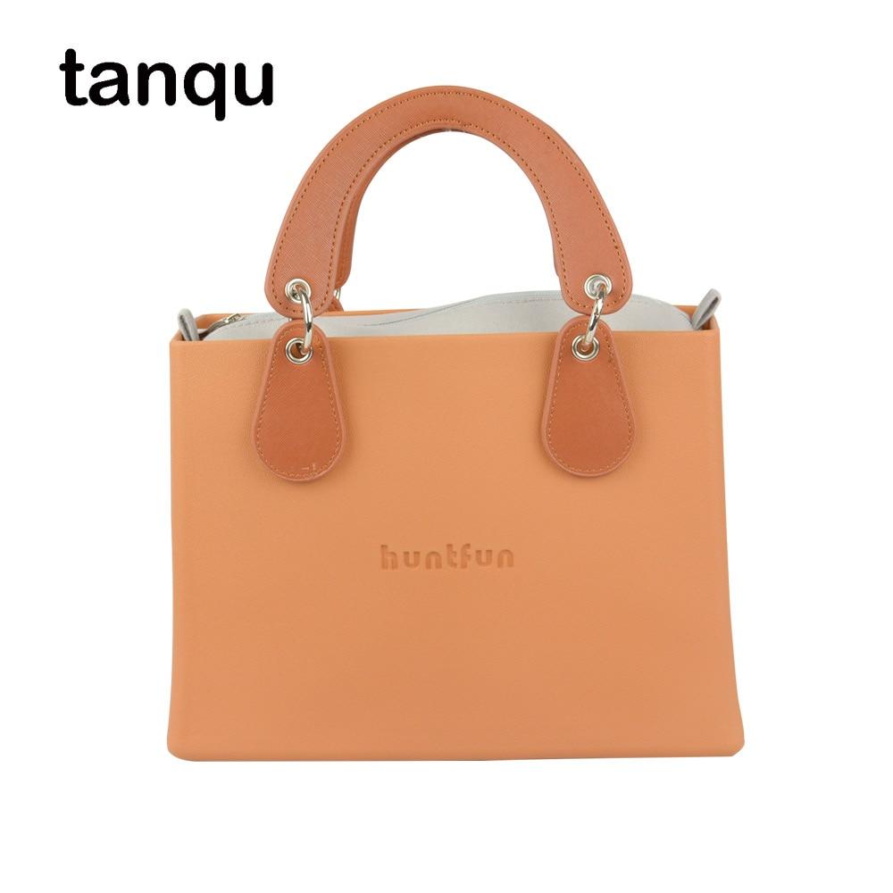 все цены на New huntfun EVA square Bag with Concise curved Belt Handle with Drops waterproof inner pocket women O bag style Handbag Obag