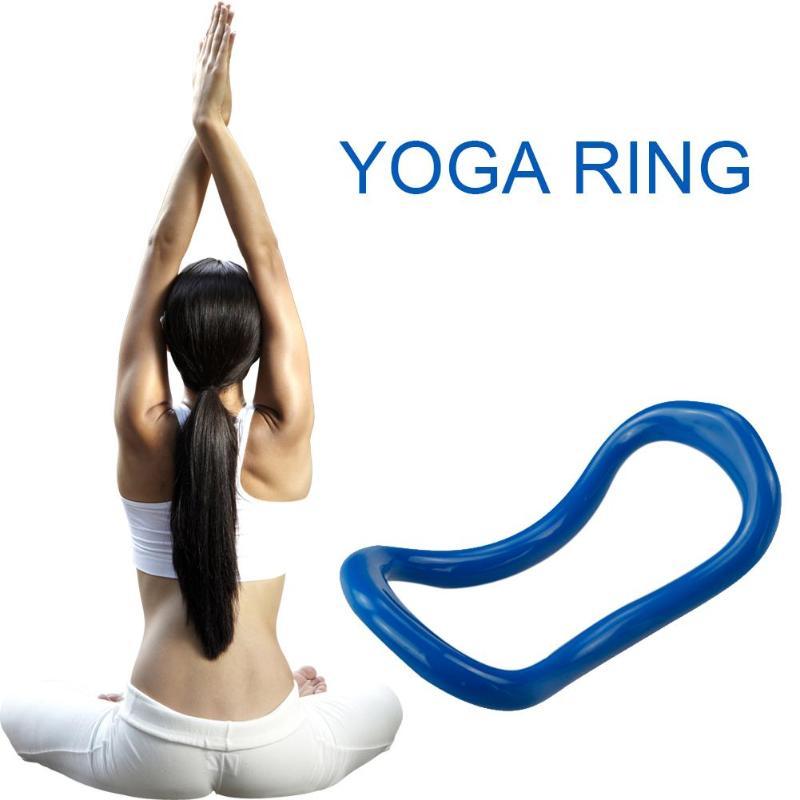 <+>  Yoga Circle Yoga Stretch Ring Главная Женщины Фитнес-оборудование Фасция Массаж Тренировки Пилатес Б ✔