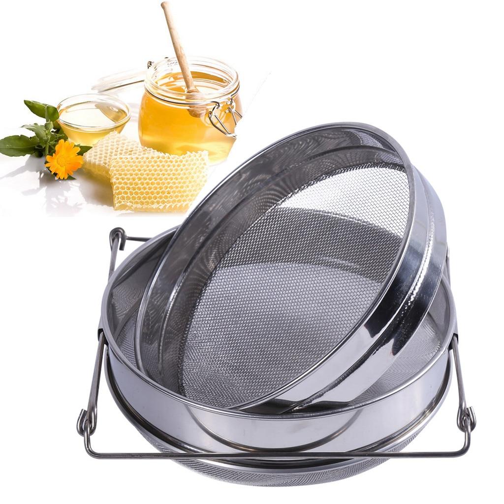 New Honey Strainer Double Sieve Stainless Steel Beekeeping Equipment Filter