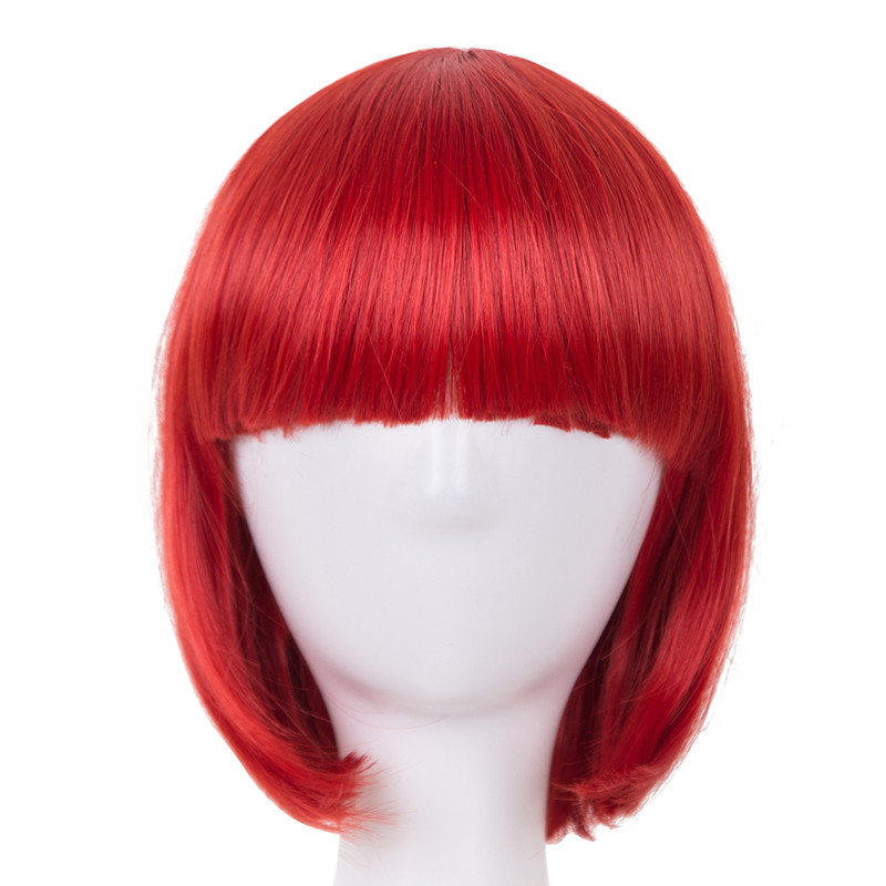 Hair Extensions & Wigs Synthetic Wigs Realistic Fei-show Syntheitc Heat Resistant Fiber Short Wavy Black Hair Wig Costume Cartoon Role Cosplay Salon Party Women Student Bob Wig